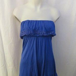 AQUA BLUE STRAPLESS DRESS XS